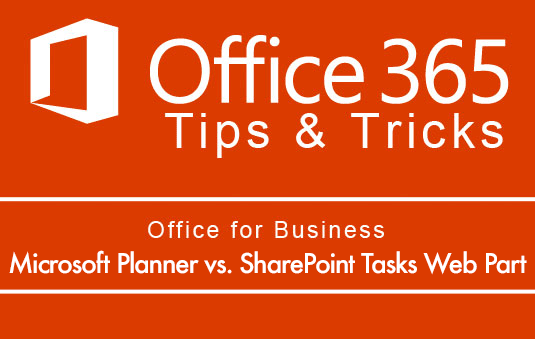 Microsoft planner vs SharePoint Tasks